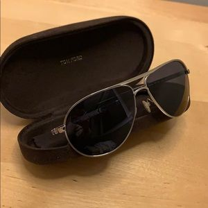 Authentic Tom Ford aviator sunglasses